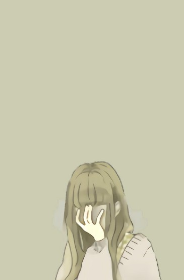 清新少女插画手机壁纸