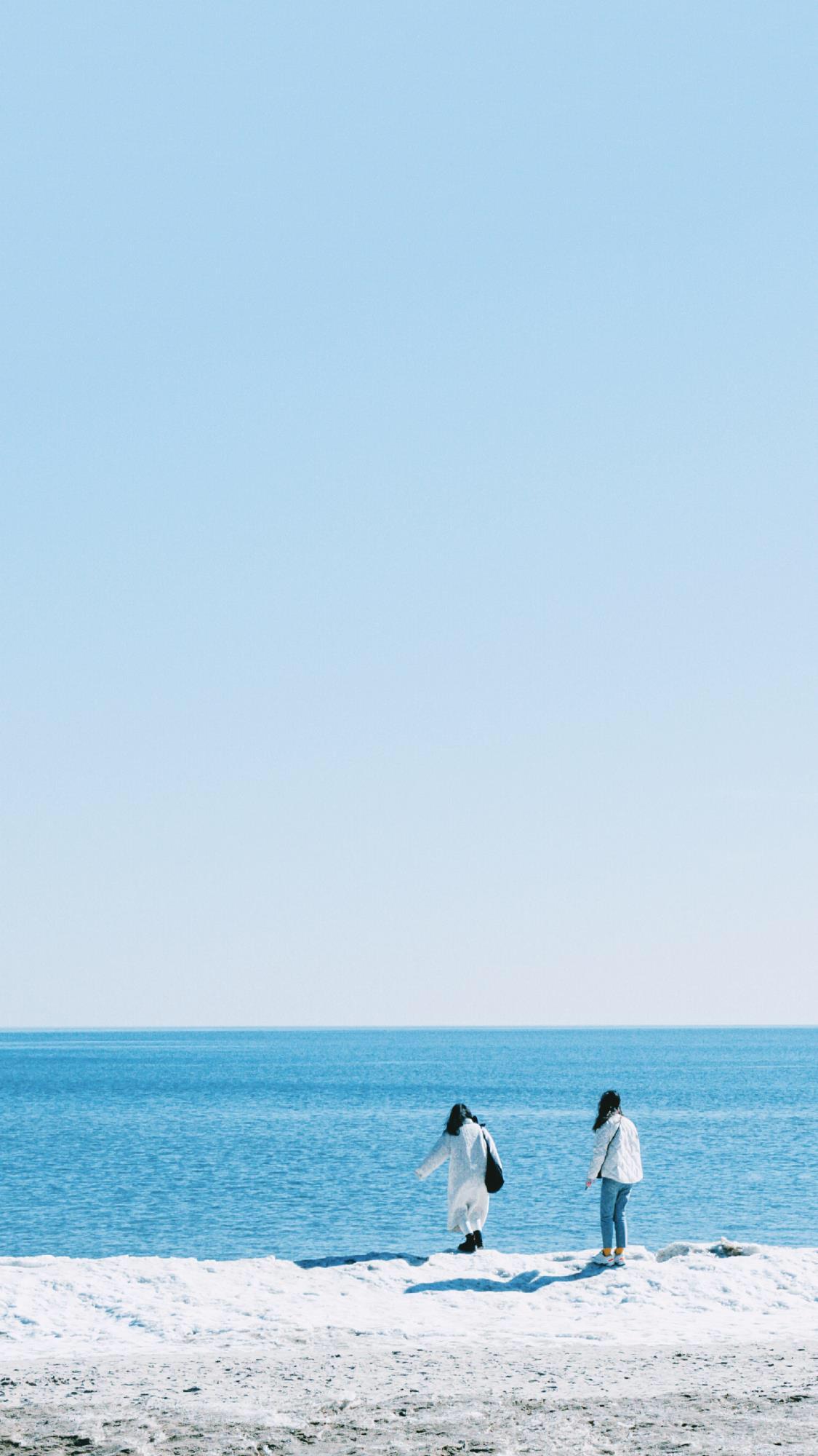 小清新沙滩海边风景唯美图片手机壁纸