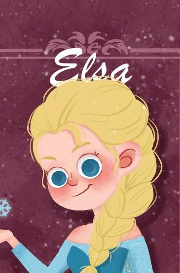 迪斯尼公主唯美插画高清手机壁纸