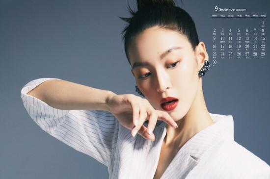 2019年9月尤靖茹魅力写真日历壁纸