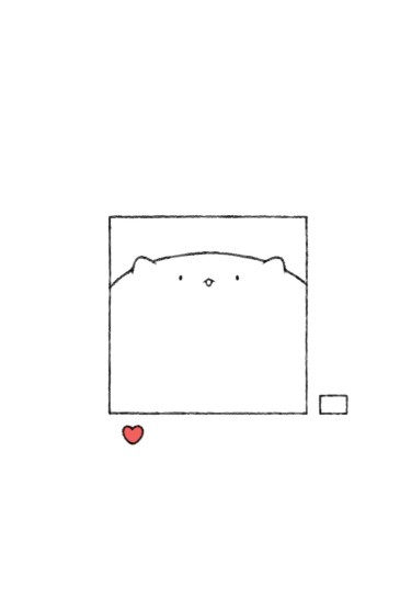<小熊简笔画手机壁纸