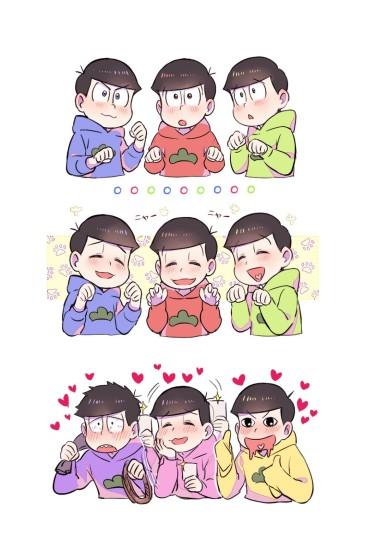 日本搞笑动漫阿松插画壁纸