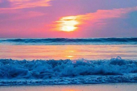 唯美夏日海滩风景桌面壁