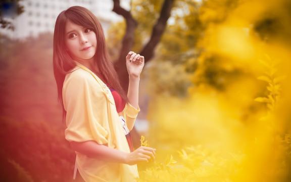 清纯台湾美女张齐郡室外唯美写真