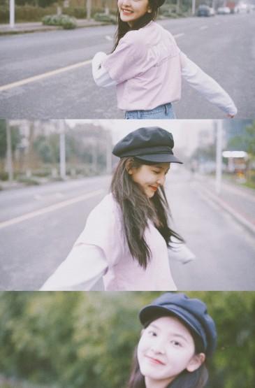 章若楠清新甜美写真手机