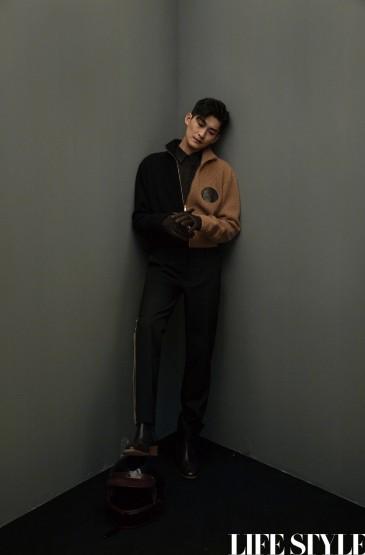 张翰时尚酷黑写真图片