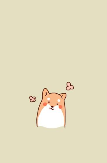 可爱卡通小狗插画高清手
