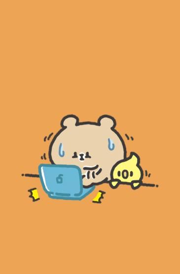 可愛小熊卡通插畫高清手