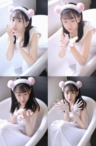 <浴缸美女大眼萌妹紙高清性感寫真