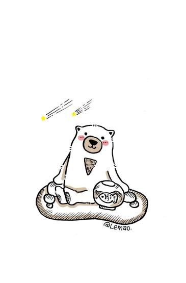 創意小熊手繪卡通圖片手