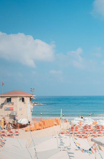小清新海邊沙灘風景圖片