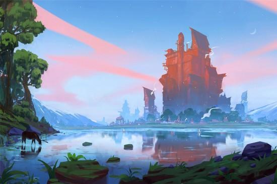 精美插画风景高清桌面壁纸
