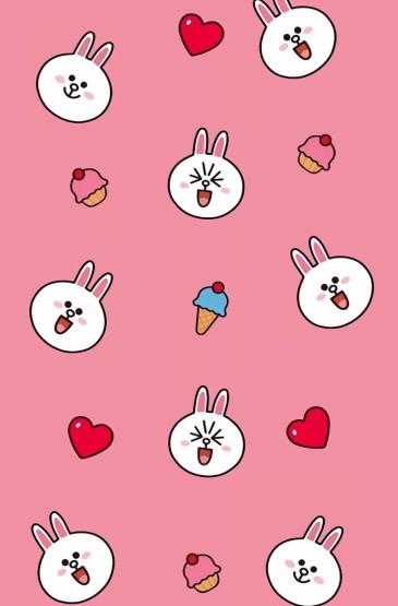 可愛卡通布朗熊手機壁紙