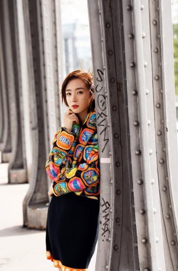 胡冰卿優雅浪漫巴黎街拍圖片