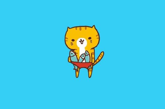 可愛小貓咪卡通圖片桌面壁紙