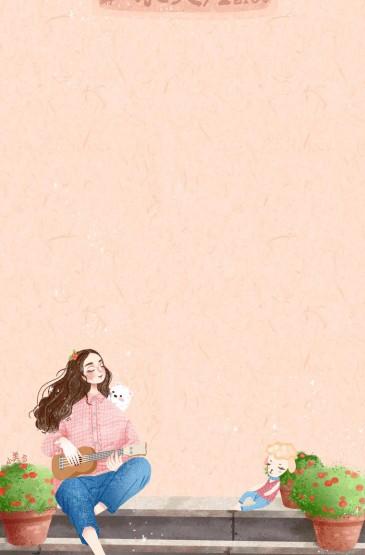 可愛唯美插畫手機壁紙圖片
