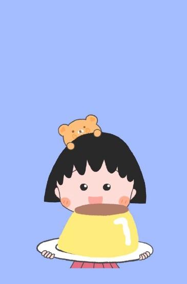 櫻桃小丸子可愛卡通圖片