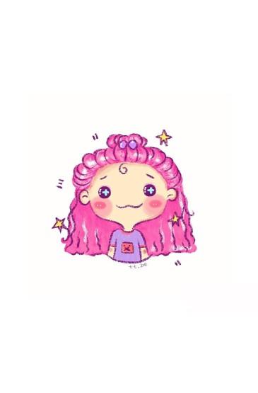可愛小姐妹手繪手機壁紙圖片