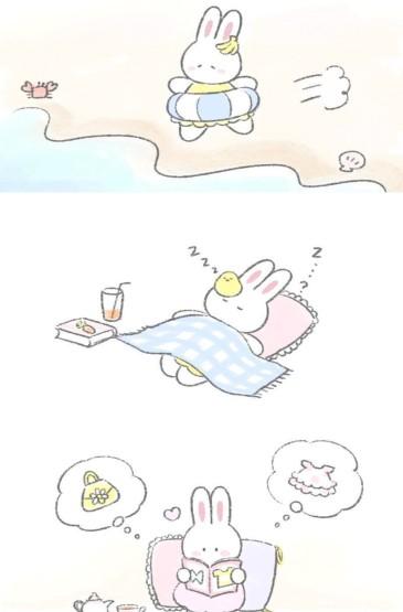 兔子手繪可愛手機壁紙