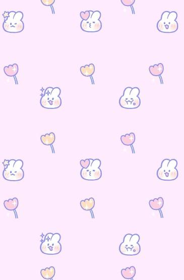 少女心軟萌兔子手機壁紙