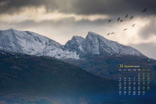 2019年11月挪威北部群岛风光高清日历壁纸