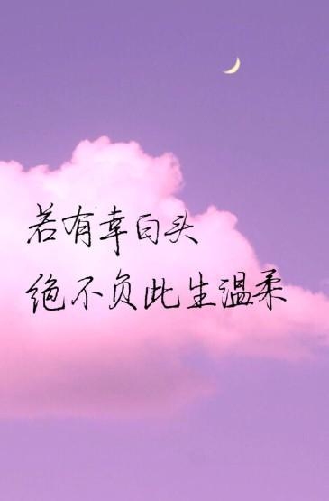 唯美爱情文字语录手机壁纸