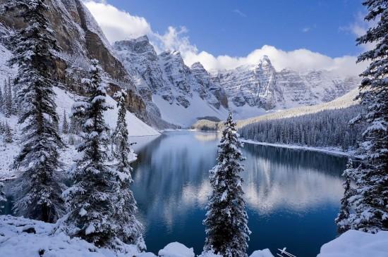 精選唯美冬季雪景圖片桌面壁紙