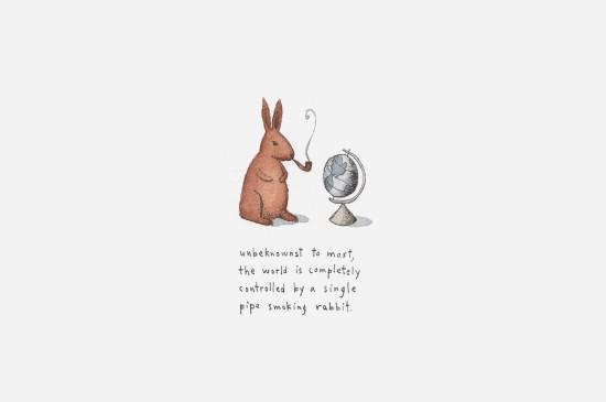 萌系卡通兔子圖片桌面壁紙