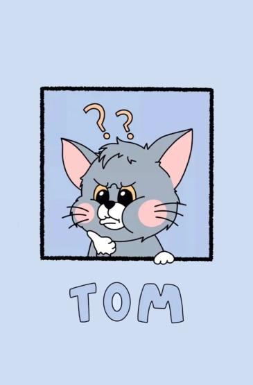 <貓和老鼠動漫鎖屏手機壁紙