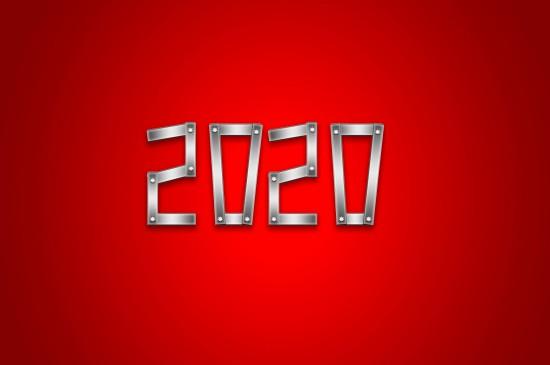 <2020年創意數字高清桌面壁紙