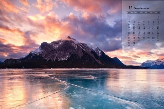 2019年12月冰川雪景圖片