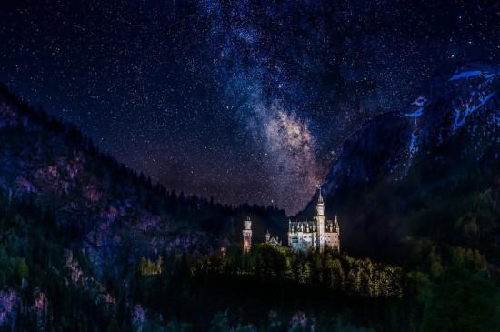 復古城堡建筑風光桌面壁紙