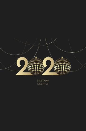 2020創意數字圖片手機壁
