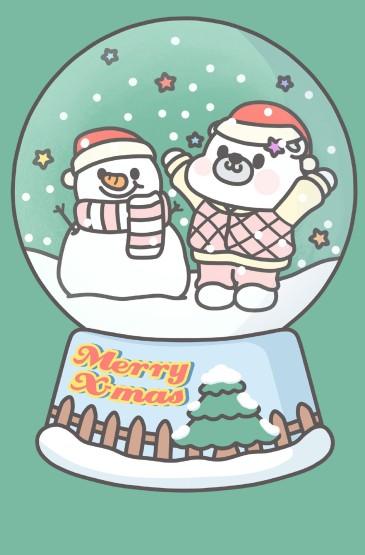 <卡通小情绪圣诞节高清手机壁纸