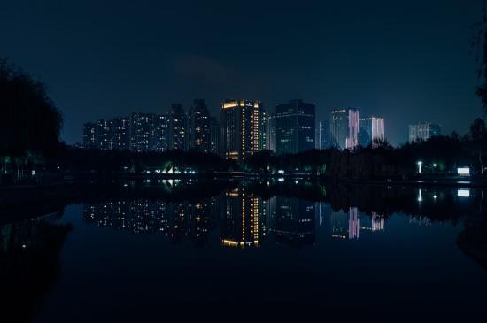 繁華城市夜景圖片桌面壁