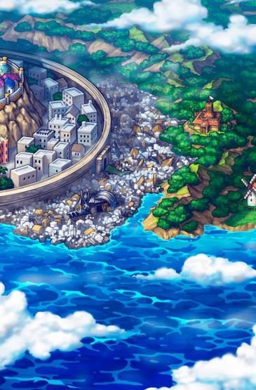海贼王动漫风景插画手机