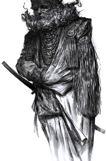 <创意黑白人物手绘高清手机壁纸