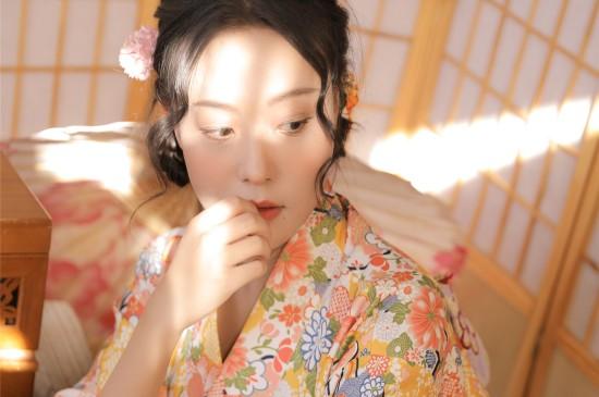 日系和服美女图片桌面壁纸