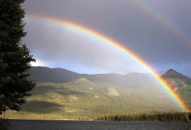 唯美绚丽的彩虹风景图片