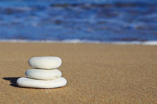 沙滩大海清新风景图片桌面壁纸