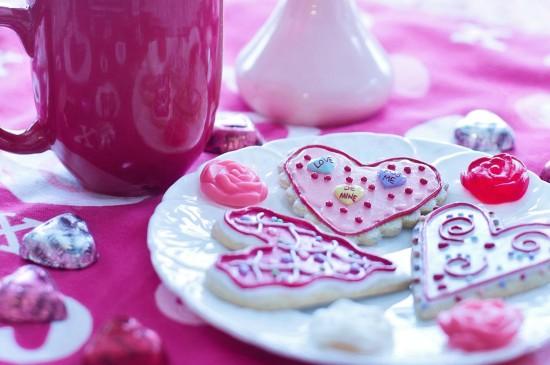 情人节曲奇饼干图片桌面壁纸