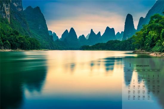 2020年2月桂林山水风光