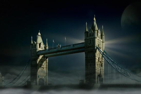 伦敦塔桥风景图片桌面壁