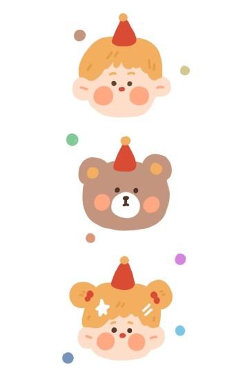 可爱萌物手绘少女心手机壁纸