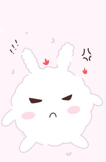 少女心可爱兔子手绘手机壁纸