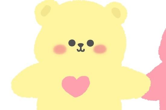 <萌趣可愛小熊手繪情侶頭像圖片