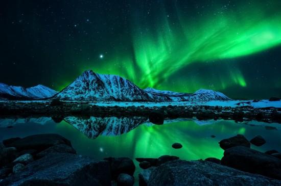 梦幻唯美的北极光图片桌面壁纸