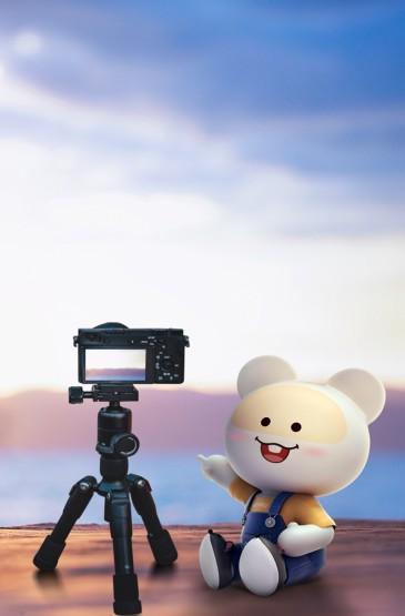 摄影机看海笨笨鼠海洋主