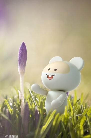 春天万物勃发笨笨鼠正能