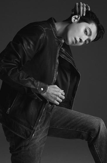 郑敬淏痞酷帅气写真图片